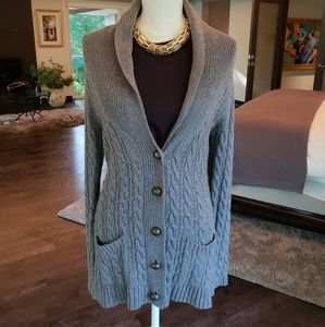 Zara Grey Knit Cardigan